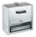 FUMOIR RECTANGLE INOX DE 40x39x21CM